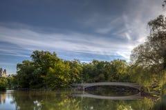 Central Park bow bridge Royalty Free Stock Photos