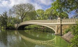 Central Park bow bridge Stock Photography