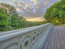 Bow bridge,Central Park, New York Cit royalty free stock photo