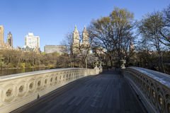 Central Park bow bridge spring Royalty Free Stock Photo