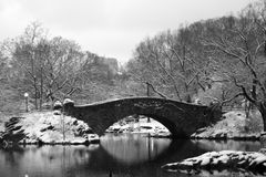 Central Park Bridge Royalty Free Stock Photo