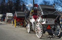 Central Park Carriages Royalty Free Stock Photos