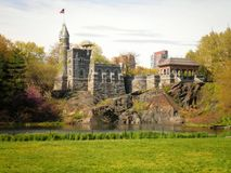 Central Park Castle. Beautiful view of the castle in Central Park royalty free stock images