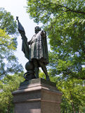 Central Park Christopher Columbus statue Royalty Free Stock Images