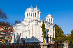 Central park Church in Brasov, Romania Royalty Free Stock Image
