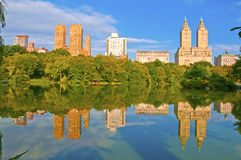 Central Park and city skyline, New York Royalty Free Stock Photography