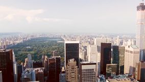 Central Park Cityscape stock video