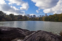 Central Park on cloudy day Royalty Free Stock Images