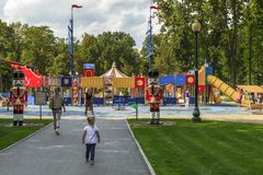 Central Park of Culture and Leisure in Kharkov, Ukraine Stock Photography