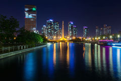 Central Park d'Ongdo, Incheon Corée du Sud Photo libre de droits