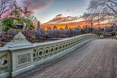 Central Park da ponte da curva Imagens de Stock Royalty Free