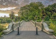 Central Park da ponte da curva foto de stock royalty free