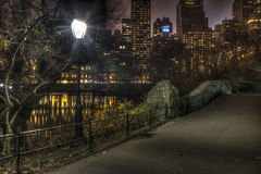 Central Park da ponte de Gapstow, New York City Fotos de Stock