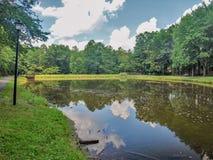 Central Park dans roi, la Caroline du Nord image libre de droits