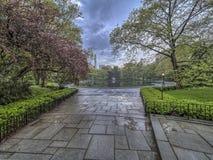 Central Park, de de Stadslente van New York Stock Foto's