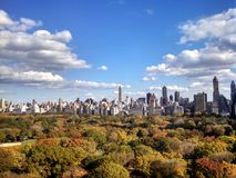 Central Park in de herfst Royalty-vrije Stock Afbeelding