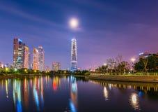 Central Park de INCHEON, COREIA Songdo em Incheon, Coreia do Sul imagem de stock