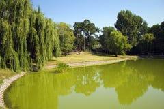 Central Park de la ciudad de Debrecen, Hungría Foto de archivo libre de regalías