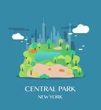 Central Park de point de repère de New York Photo stock