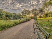 Central Park de pont d'arc Photo stock