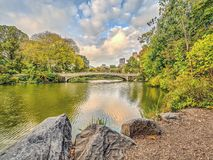 Central Park de pont d'arc Photo libre de droits
