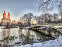 Central Park de pont d'arc photo stock