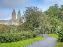 Central Park in de recente zomer stock foto's