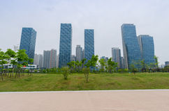 Central Park de Songdo au district des affaires d'International de Songdo Incheon, Corée Image stock