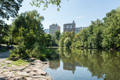 Central Park in de Stad NYC van New York Royalty-vrije Stock Foto's
