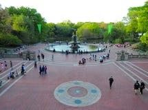 Central Park, de Stad van Manhattan, New York Stock Foto's