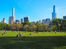 Central Park, de Stad van Manhattan, New York Stock Afbeelding