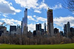 Central Park - de Stad van New York stock afbeelding
