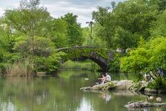 Central Park de visite de personnes à New York Photos stock