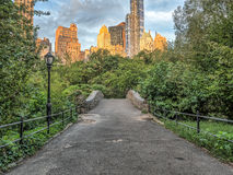 Central Park del ponte di Gapstow, estate di New York Immagine Stock