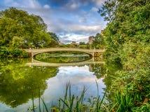 Central Park del puente del arco Foto de archivo libre de regalías
