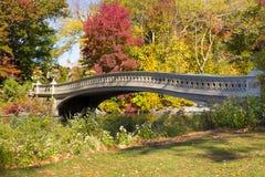 Central Park del puente del arco Fotos de archivo libres de regalías