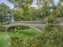 Central Park del puente del arco Imagen de archivo libre de regalías