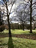 Central Park della città di Riga Sorgente Giorno freddo Immagine Stock