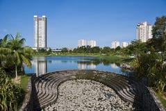 The Central Park (Desa ParkCity), Kuala Lumpur. Desa Park City is located adjacent Bandar Menjalara, Kuala Lumpur. The Central Park offers residents recreational stock images