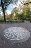 Central Park di Strawberry Fields, New York Immagine Stock