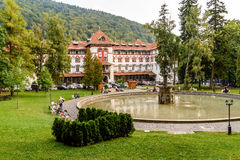 Central Park Dimitrie Ghica In Sinaia Stock Image