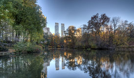 Central Park do centro de Time Warner, New York City Imagens de Stock