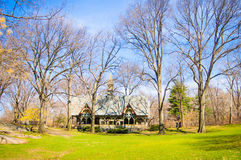 Central Park dom Obrazy Stock