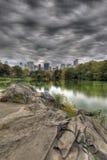 Central Park door het meer Stock Afbeelding