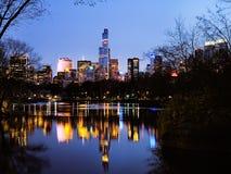 Central Park in dusk,  New York City Stock Photos