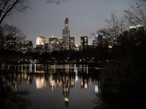 Central Park in dusk, vintage filter Royalty Free Stock Photography