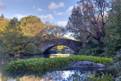 Central Park in early autumn Stock Image