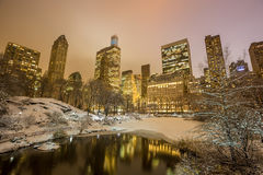 Central Park efter snön Strom Linus Royaltyfri Fotografi