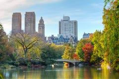 Central Park en caída fotografía de archivo libre de regalías