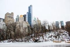 Central Park en invierno Imagen de archivo